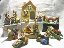 Goebel Hase Osterhase  Gartenhasen  Hasenhaus Haus  Gartenzwerg Wach auf