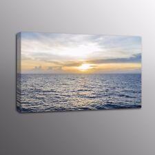 Landscape Canvas Painting Prints Grey Sea Wall Art Ocean Picture Home Decor