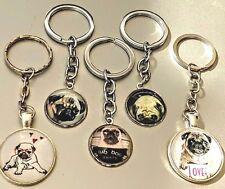Pug Dog Puppy Key Ring Keychain Jewelry