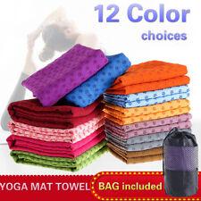 Pilates Yoga Mat Towel Fitness Sport Exercise Non-Slip Absorption Sweat Blanket