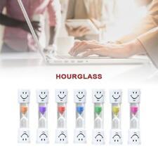 Multicolor 2 Minute Hourglass Kid Toothbrush Timer Smiley Sand Egg Timer Gift KJ