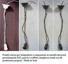 Pendel catena cavo per lampadario sospensione lampada soffitto con gancio