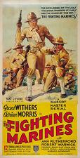 The Fighting Marines (1936) Robert Warwick cult serial movie poster print