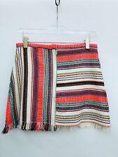 Zara stile etnico a righe minigonna taglia S M REF 7521 013