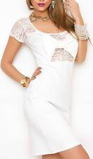 Sexy Miss Daman mini vestido de fiesta dress punta bucle S/M 34/36 M/L 36/38 blanco