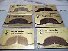 Moustache Human Hair Professional Rubies # 2014 Greys Browns Blk Large Handlebar