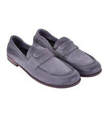Dolce & GABBANA velluto-pelle mocassini Lentini GRIGIO loafer Grey 04198