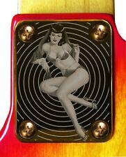 Neck Plate Neckplate Gold Fender Strat Tele P Bass J Bass Guitar Pin Up Girl 7