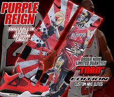 NIKE AIR JORDAN RETRO IV 4 TORO BRAVO FIRE RED Custom Nike Elite Socks (ALL SZ)