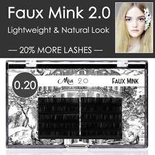 0.20 Faux Mink Eyelash Extension Easy Fan Soft Light Natural Look Vegan Friendly