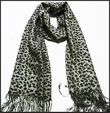 super soft animal print  100% pashmina scarf shawl cashmere silk neck warmer