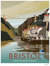 Bristol vintage retro travel POSTER Print A4 A3 Buy 2 Get 1 FREE
