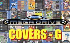 Sega Mega Drive Remplacement Box Art Case Insert Cover - Letter G - High Quality