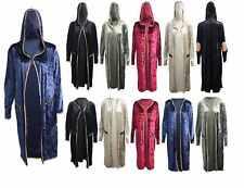 Womens Ladies Velvet Elbow Patches Full Sleeve Zip Pocket Hooded Jacket Coat