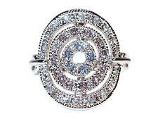 Damen Ring Veronique, Metall-Legierung, rhodiniert, bunte Zirkonia