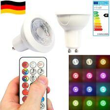 GU10 LED RGB-W WW Farbwechsel + IR Fernbedienung 3W Dimmbar mit Memory Funktion