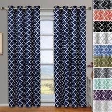 Meridian Thermal Room-Darkening Grommet Window Geometric Curtain 2 Panels Set