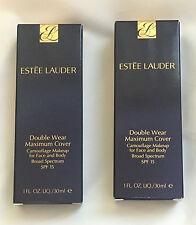 NIB Estee Lauder Double Wear Maximum Cover Camouflage Makeup SPF Rattan Vanille