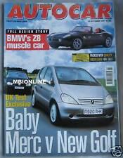AUTOCAR 29/10/1997 featuirng Marcos GTS, BMW Z8, Thrust SSC, Mercedes, VW