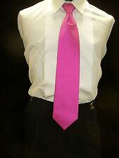 USED Necktie Pretied - FUSHIA (Hot Pink)  N810