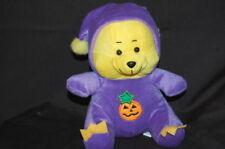 "Purple Yellow Halloween Costume Bear Toy 8"" King Plush Stuffed Animal"