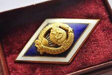1970s USSR Soviet University Graduation Badge Rhomb BOX