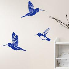 Wandtattoo Wandsticker Wandaufkleber Wohnzimmer Flur Vögel Kolibri 3 Stück W695