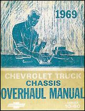 1969 Chevrolet Truck Overhaul Manual 69 Pickup Suburban Blazer Van Engine Tranny