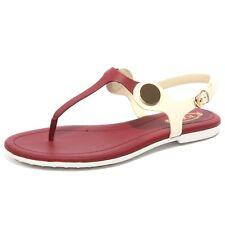 B1672 infradito donna TOD'S sandalo panna/amaranto flip flops shoe woman