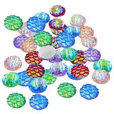 50 piezas de resina a escala Círculo Cabujón piedras mezcla Hazlo tú mismo scarpbooking 10 mm