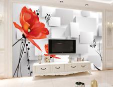 3D Fiori allungati 45 Parete Murale Carta da parati immagine sfondo muro stampa
