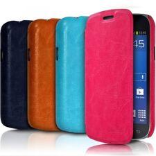 Housse Coque Etui à rabat latéral Couleur pour Samsung Galaxy Trend Lite + Film