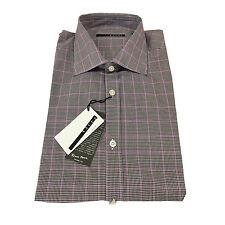 XACUS camisa de hombre cuadros marrón oscuro/glicinas 100 % algodón THOMAS MASON