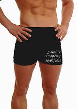 Personalised Mens Boxer Shorts Custom Present Poison époux Groom Best on Leg