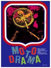 Moto drama Polish film Decoration Poster.Graphic Art Interior design.Wheel 3555