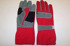 Kart Racing Guantes de alta calidad en rojo Extra Agarre Palms Tallas XXS-XXL