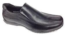 Negro de Hombre Informal Oficina Lona Doble sin Cordones Zapatos Sintético Cuero
