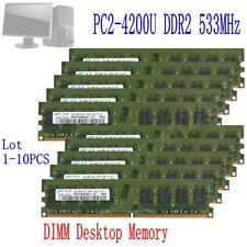 16GB 8GB 4GB 2GB DDR2-533Mhz PC2-4200 240pin DIMM Desktop Memory For Samsung LOT