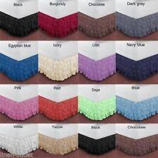 Full Xl Multi Layer Ruffle Bed Skirt 1000 Tc Egyptian Cotton Select Drop Length.