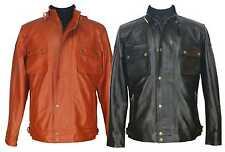 Mens Real leather jacket Race master Soft Sheep skin GentsGenuine Motor bike