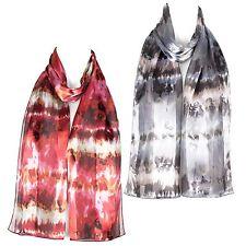 Filles Femmes écharpe en mousseline de satin foulard châle