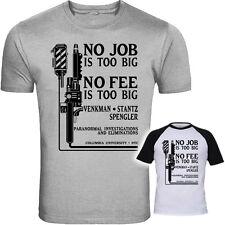 Ghostbusters Inspired Venkman Spengler and Stantz No Job is too big Shirt