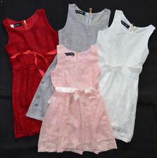 Mädchen Party Kleid Dress  Sommer Ärmelloß Party