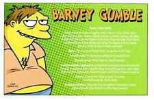 (10505) simpsons carte postale - barney gumble