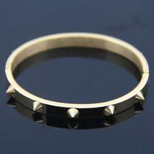 Punk Rock Style Rivets Bangle Premium Titanium Steel Solid Bracelet With Spikes