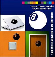 Sticker Vinilo - Bola 8 - 8 Ball - Pegatina - Wall Decall - Vinyl - Aufkleber