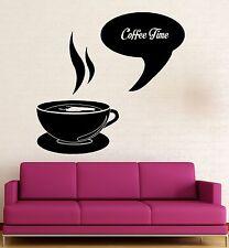 Wall Sticker Vinyl Decal Coffee Time Shop Restaurant Kitchen Decor (ig2026)