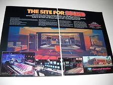 Osmond Studios North Orem Utah 2-Piece 1980 Supersized Promo Ad