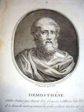DEMOSTHENE GRECIA oratore e statista Acq.Originale