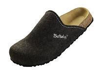 Betula House Hausschuhe schmal stitching brown braun Filz Clogs Pantoffeln Panto